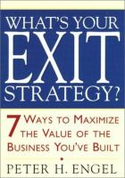 What's your Exit Strategy?