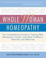 Whole Woman Homeopathy