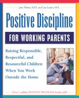 Positive Discipline for Working Parents