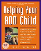 Helping your ADD Child