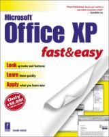 Microsoft Office XP: Fast & Easy (Fast & Easy)