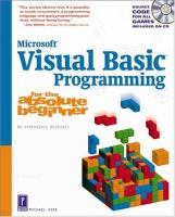 Visual Basic Programming for the Absolute Beginner