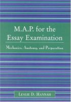 M.A.P. for the Essay Examination