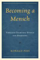 Becoming A Mensch