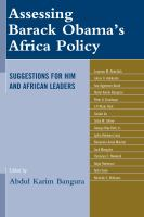 Assessing Barack Obama's Africa Policy
