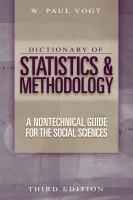 Dictionary of Statistics & Methodology