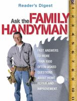 Ask the Family Handy-man