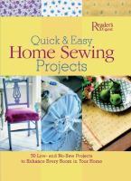 Quick & Easy Home Sewing Projects