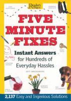 Five Minute Fixes