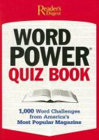 The Reader's Digest Word Power Quiz Book