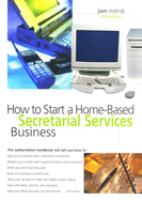 How to Start A Home-based Secretarial Services Business