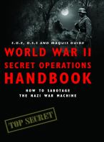World War II Secret Operations Handbook