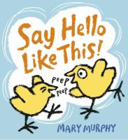 Say Hello Like This Book Cover