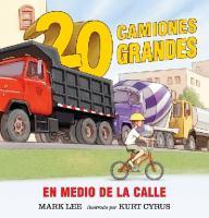20 camiones grandes en medio de la calle