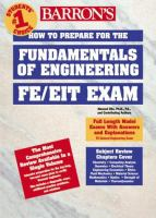 How to Prepare for the Fundamentals of Engineering (FE/EIT) Exam