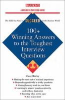 100+ Winning Answers To The Toughest Interview Questions