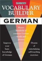 Vocabulary Builder German