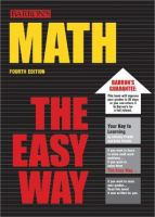 Math the Easy Way