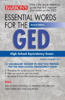 Essential Words for the GED