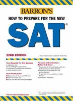 Barron's How to Prepare for the New SAT