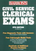 Barron's Civil Service Clerical Examinations