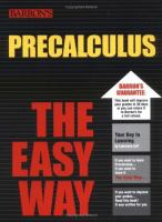 Precalculus, the Easy Way