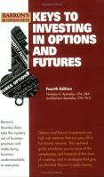 Keys to Investing in Options and Futures