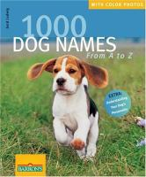 1000 Dog Names From A to Z