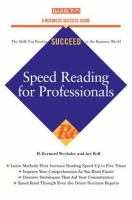 Speed-reading for Professionals