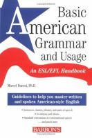 Basic American Grammar and Usage
