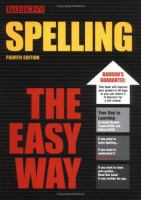 Spelling the Easy Way