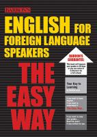 Barron's English for Foreign Language Speakers the Easy Way