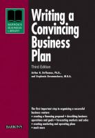 Writing A Convincing Business Plan