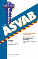 Pass Key to the ASVAB Armed Services Vocational Aptitude Battery