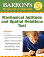 Mechanical Aptitude and Spatial Relations Tests