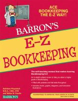 Barron's E-Z Bookkeeping