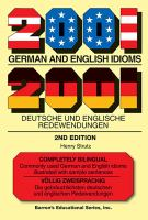 2001 German and English Idioms, Second Edition