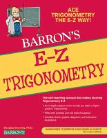 Barron's E-Z Trigonometry