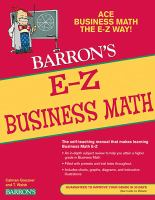 Barron's E-Z Business Mathematics