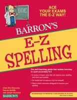 Barron's E-Z Spelling