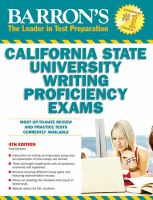Barron's California State University Writing Proficiency Exams (or the GWAR-graduation Writing Assessment Requirement)