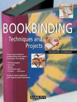 Bookbinding Techniques and Projects