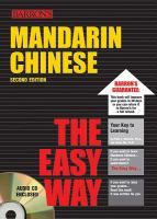 Mandarin Chinese the Easy Way