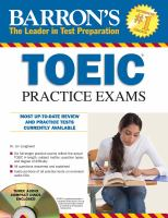 Barron's TOEIC Practice Exams With Audio CDs
