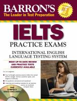 Barron's IELTS Practice Exams With Audio CDs