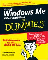 Microsoft Windows Me Millennium Edition for Dummies