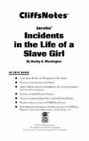 CliffsNotes Jacob's Incidents In The Life Of A Slave Girl
