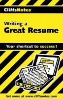 CliffsNotes Writing A Great Resume