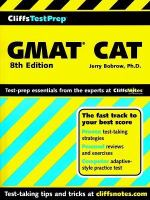CliffsTestPrep GMAT CAT (computer-adaptive Graduate Management Admission Test)