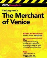 CliffsComplete Shakespeare's The Merchant of Venice